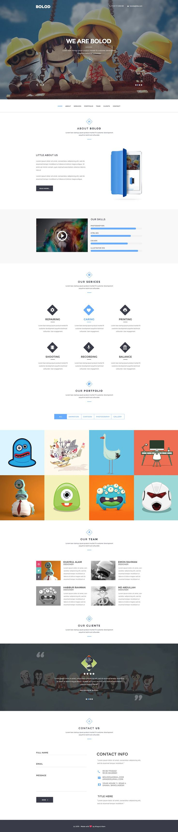A Great Collection Of Best Single Page Website Templates Psd From Professional Designers Worldwide Feel Free To Use Them As You Like