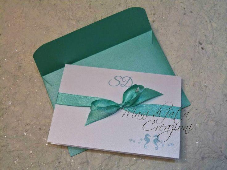 Partecipazione matrimonio mare - Sea Wedding invite