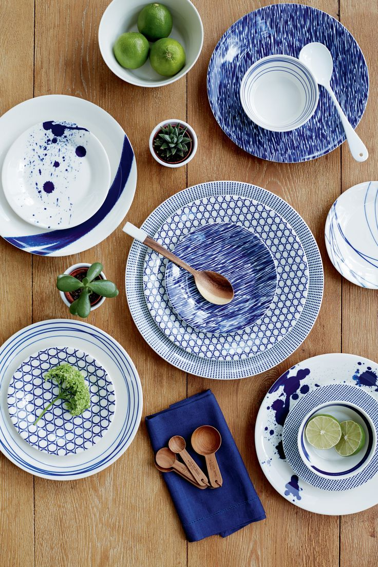 NEW IN! Royal Doulton Pacific Collection - Piatti blu mediterraneo estate da www.spaziomateriae.com a Napoli