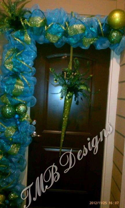 Peacock Christmas Garland!!!:)