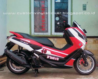 Yamaha NMax ABS Red - Custom Stripe & Text