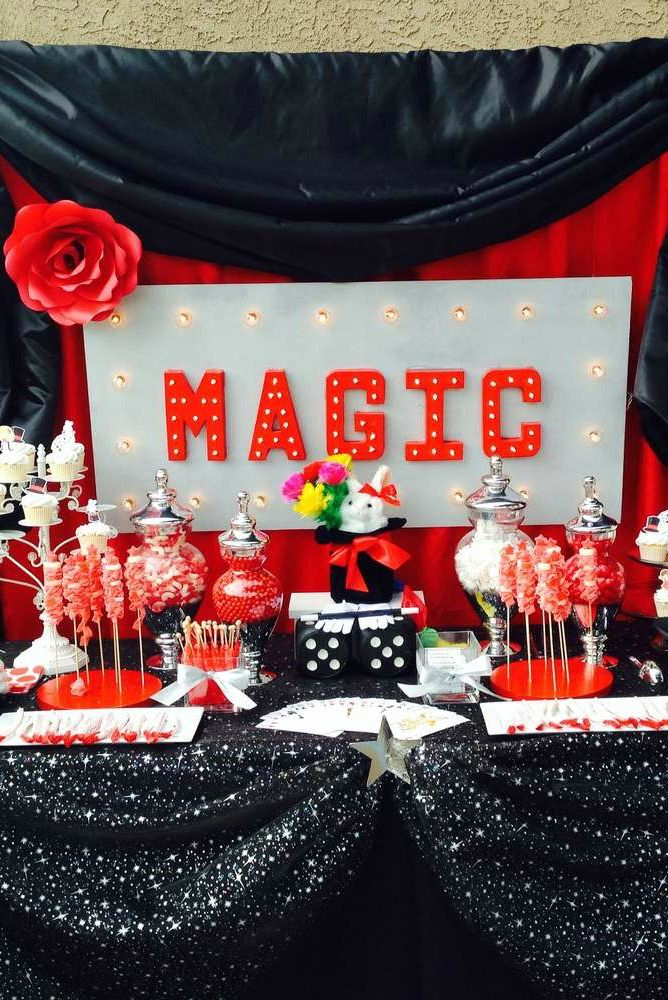 Magic boy Birthday Party!  See more party ideas at CatchMyParty.com!
