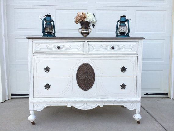 Best Sold Sold Beautiful Antique White Painted Dresser With 400 x 300