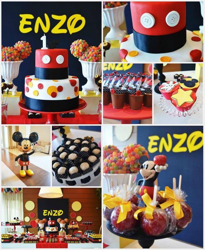 Mickey Mouse 1st Birthday Party Full of Cute Ideas via Kara's Party Ideas | Kara'sPartyIdeas.com #MickeyMouseClubhouse #Party #Ideas #Supplies #mickeymouse