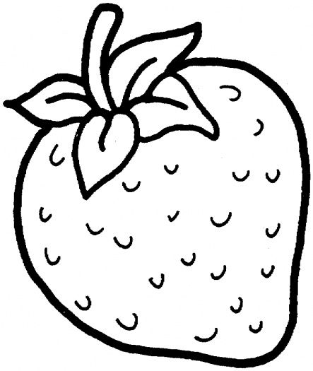 Strawberry Printable for coloring.