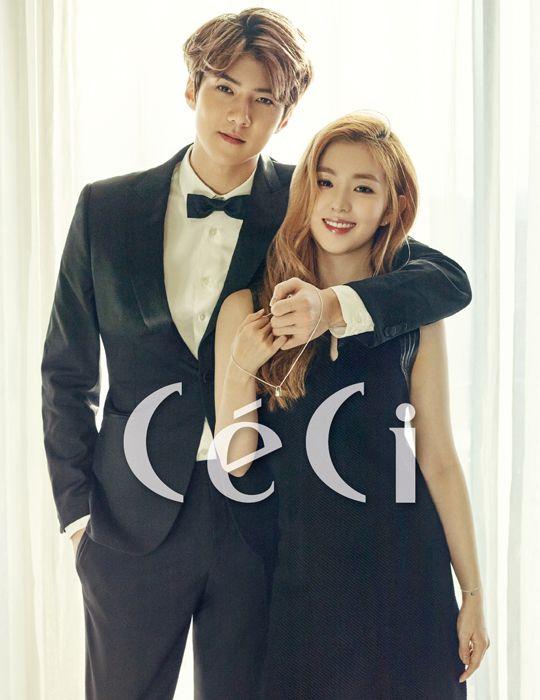 Sehun (EXO) et Irene (Red Velvet) en couverture de CéCi pour une œuvre de charité