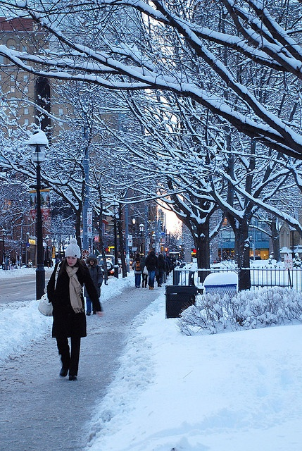 Toronto Winter Street Scene by Mopiku, via Flickr