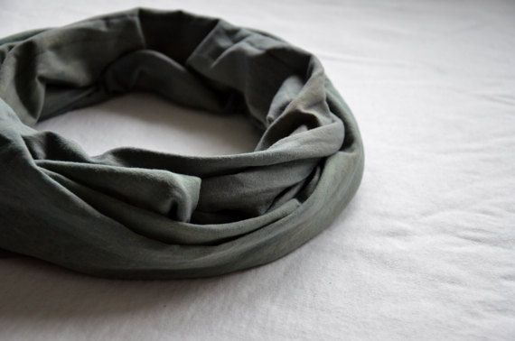 Khaki green scarf naturally dyed unisex cotton stretch soft dreads head scarves eco hair boho bohemian minimalist womens mens vegan green