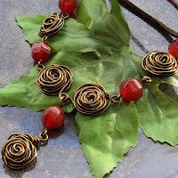 Wire roses tutorial on the Blue Forest Jewellery blog