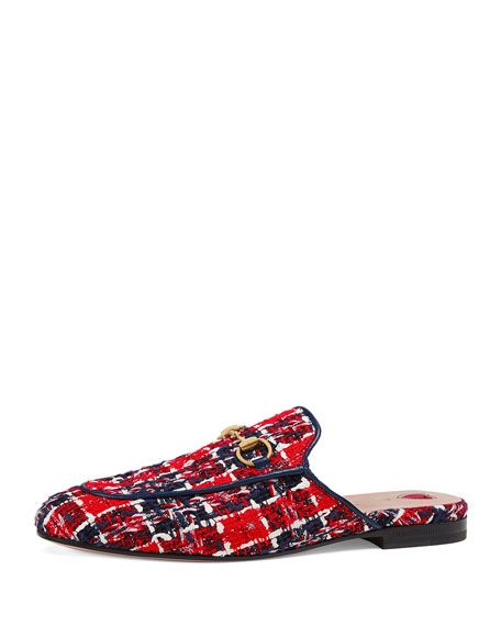 4232b324f GUCCI TWEED PRINCETOWN SLIPPERS. #gucci #shoes | Gucci in 2019 ...