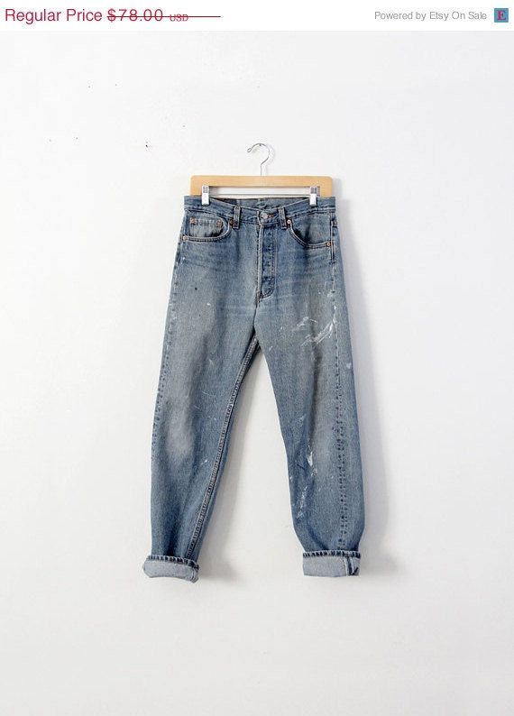 SALE Vintage Levis Jeans / 1980s Levis 501 Denim / by