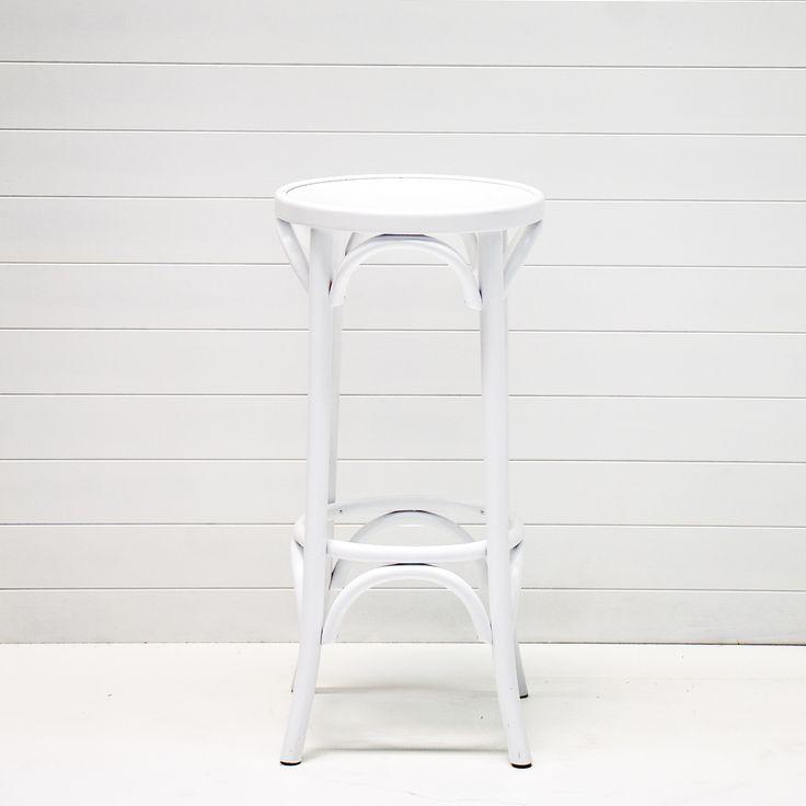 WHITE BENTWOOD STOOL QTY: 36