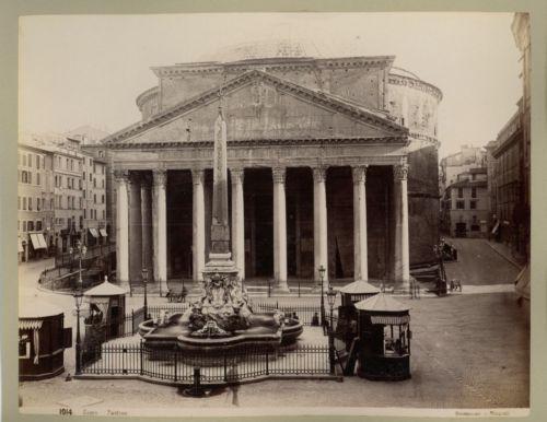 Italie-Roma-Panteon-vintage-albumen-print-Italy-Tirage-albumine-17x22