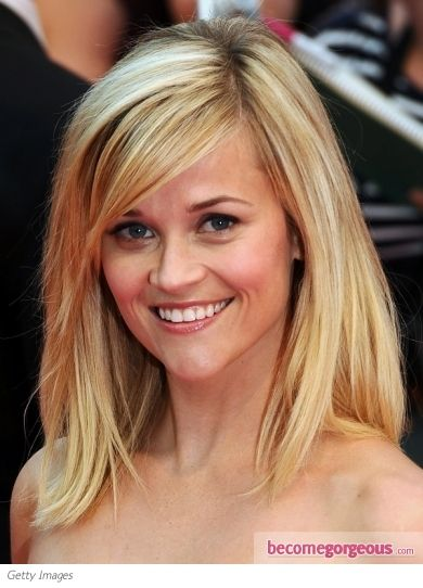 shoulder lengthHair Ideas, Reese Witherspoon, Haircuts, Hairstyles, Medium Length, Hair Cuts, Side Bangs, Medium Hair, Hair Style