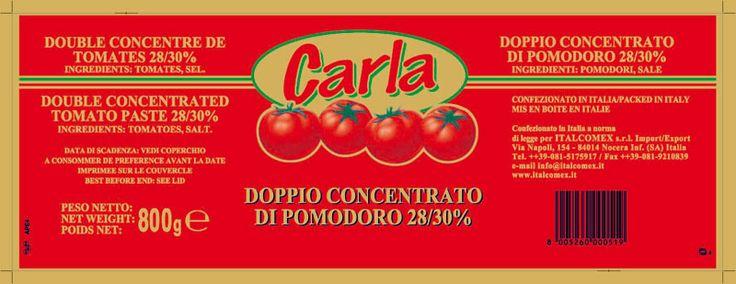 Tomato Paste 800g 28/30% Carla Brand