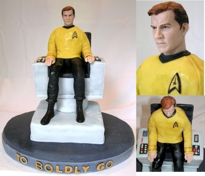 This cake boldly goes where no cake has gone before...(how could I resist?)