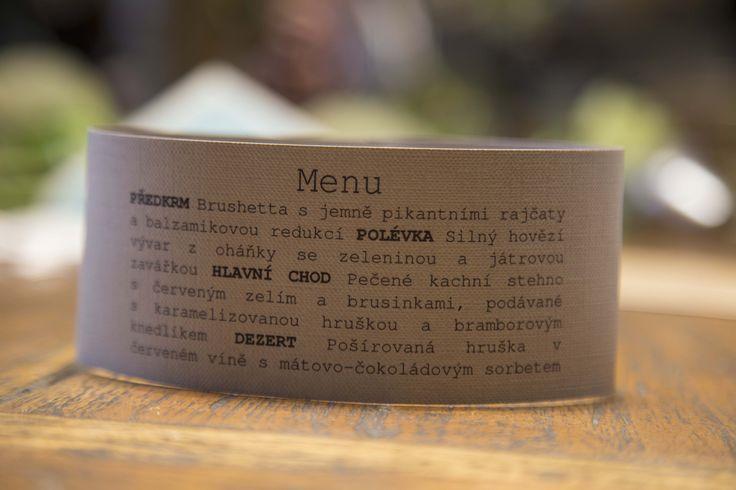 Jednoduché a originální menu na vaši svatbu vám vyrobí kreativnimatka.cz