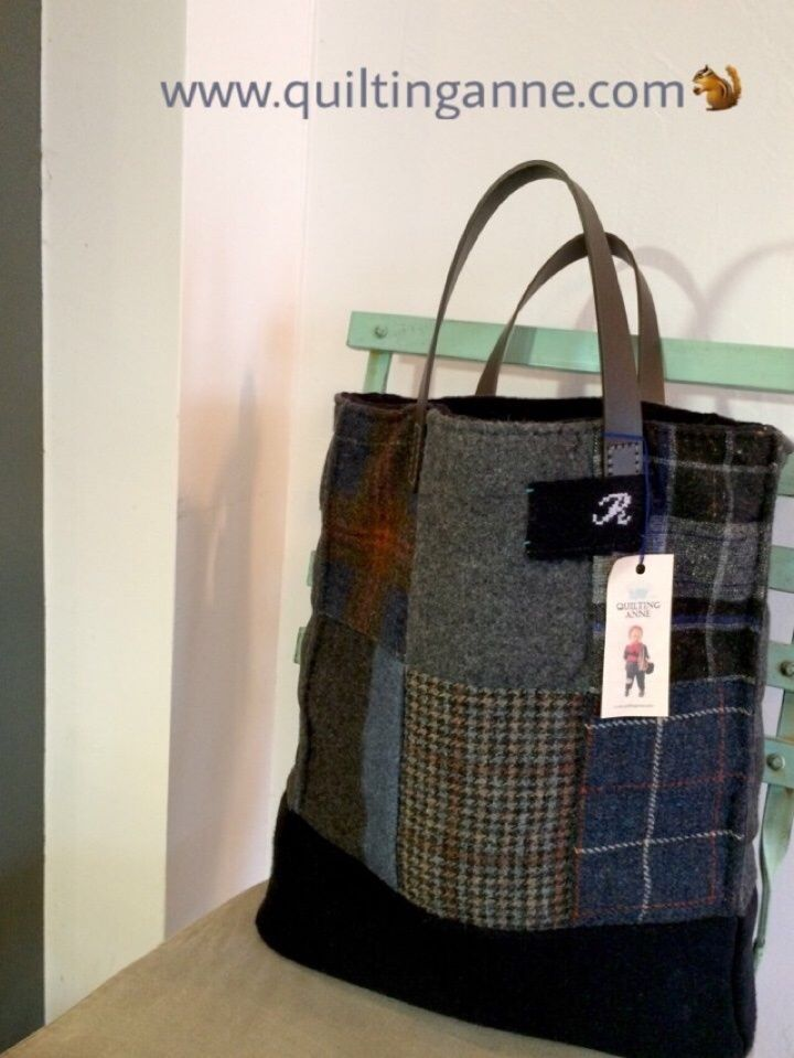 [ Navy Wool Bag ] 추가샷그리고, 진행중인 [ Mini Cross Wool Bag ] www.quiltinganne.com