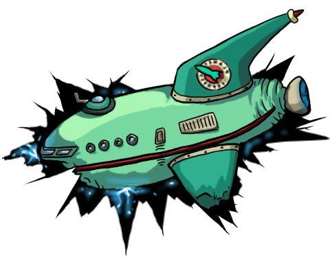 Planet Express Ship Crash by ~Redflare500 on deviantART