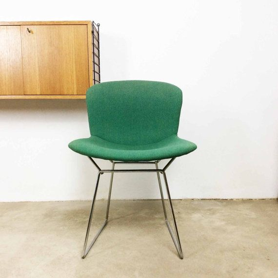Vintage 60s Knoll International Harry Bertoia Diamond Wire Chair With  Seatcover Stuhl Midcentury Modern Panton Eames Era