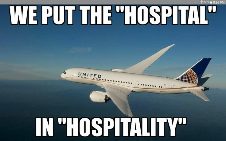 United Airlines humor