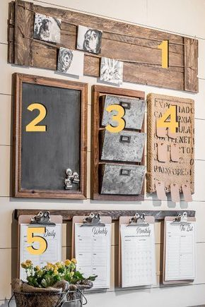 A diy home command center with a touch of farmhouse charm pinterest solutioingenieria