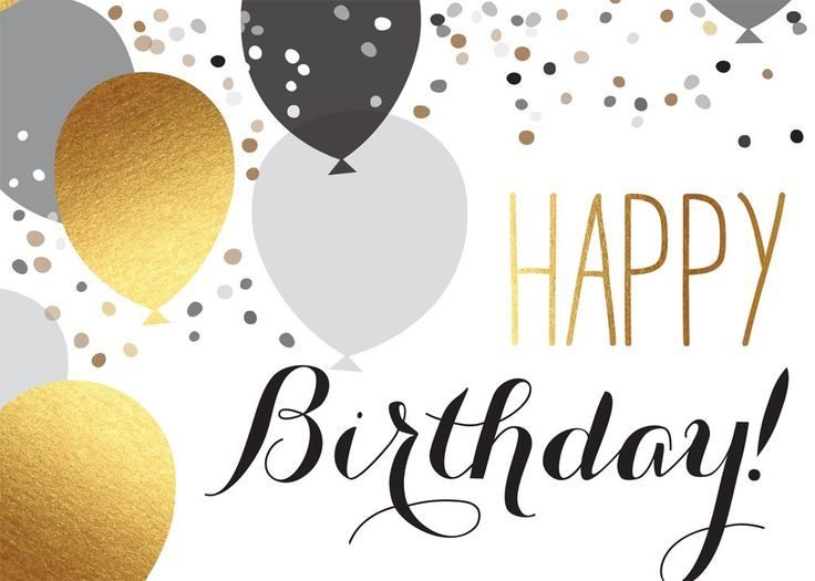 Pin By Hanna Kropkowska On Happy Birthday: Happy Birthday Elegant Silver Gold Balloons