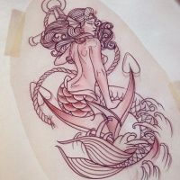Image result for mermaid anchor tattoo