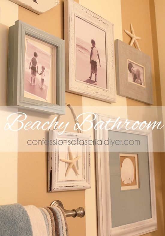 Delightful Beachy Bathroom Makeover