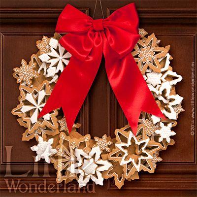 Corona de Navidad con galletas de jengibre | Little Wonderland