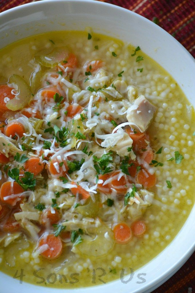Nonna's Italian Style Chicken Noodle Soup - 4 Sons 'R' Us