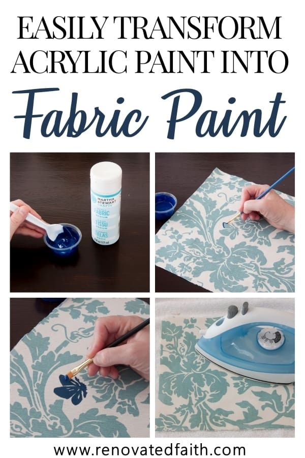 How To Make Acrylic Paint On Fabric Permanent The Best Fabric Paint Acrylic Paint On Fabric Fabric Painting Techniques Fabric Painting