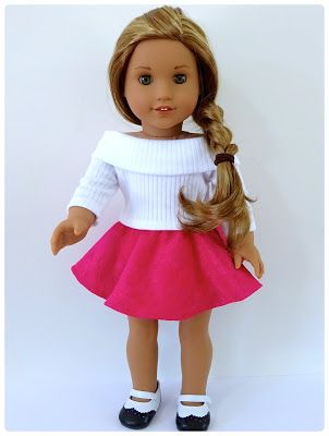 Skater Skirt Doll Clothes Pattern for American Girl Doll and Australian Girl Doll     Many girls like to play with American Girl dolls. If you have good sewing skills, you can make doll clothes for them!