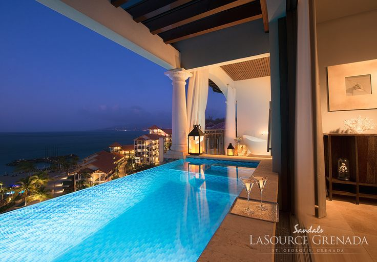 Sandals LaSource in Grenada offers romantic suites with private infinity edge pools. | Sandals Resorts Honeymoons
