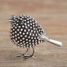 Vivid antique banhado a prata pássaro bonito broches para as mulheres crianças Presentes de Ano novo Contas de Liga Broches Alfinetes de Lapela Collar Dicas jóias(China (Mainland))