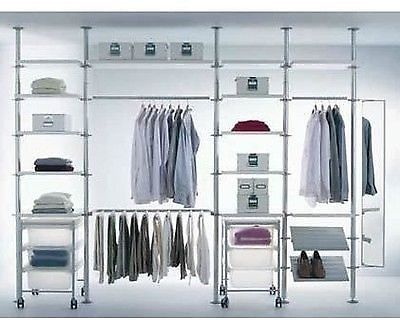 Ikea Stolmen Storage Shelves System Walk In Wardrobe
