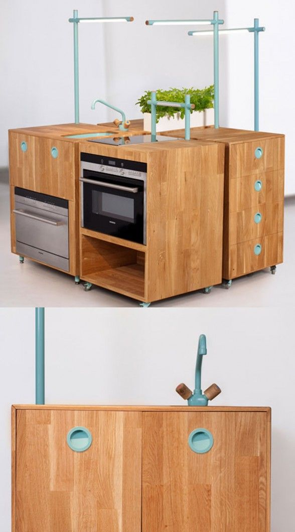 Modern Portable Kitchen Styles With Space Saving Decorations Tips - http://www.simpous.com/home-decoration/modern-portable-kitchen-styles-with-space-saving-decorations-tips.html