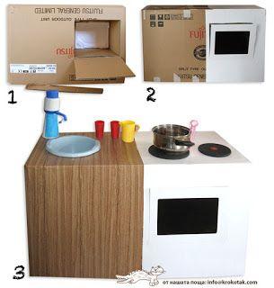 Ateliê Fofurices by Taís Olly: Cozinha de caixa de papelão
