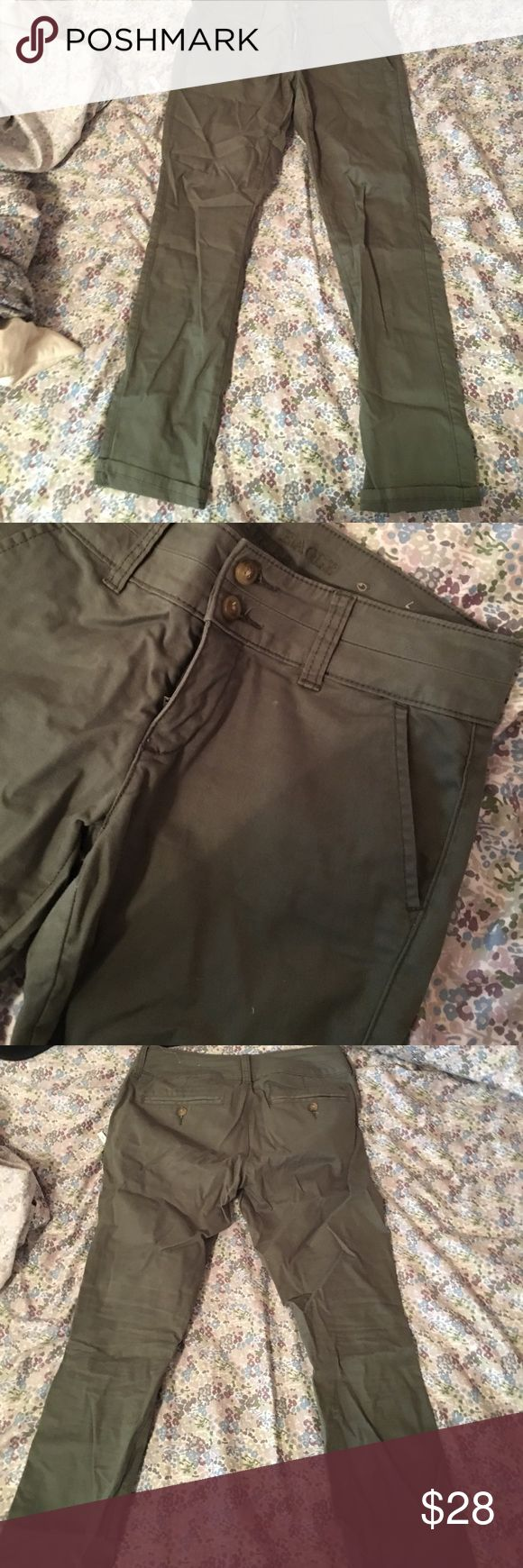 Olive dress pants Good for a day at the office American Eagle Outfitters Pants Trousers