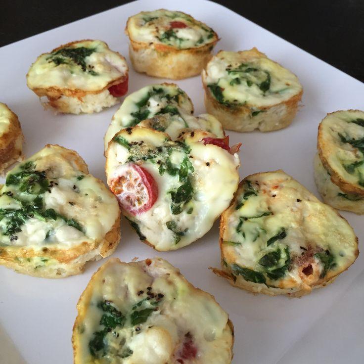 Arugula Egg White Muffins #eatseasonably #arugula #eggmuffin