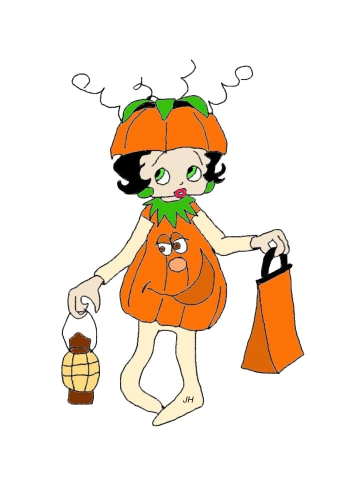 Betty Boop Halloween Clipart Free To Use