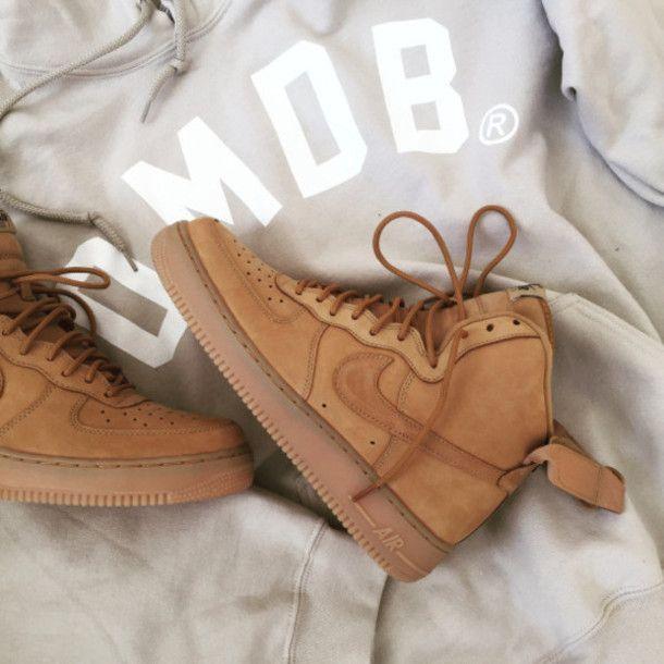 Nike Air Force 1 Haute Draper Tan Or