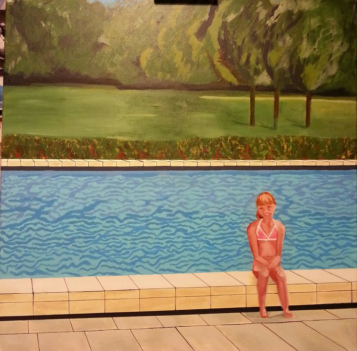 almost finished, me at the public swimming pool in 1978, 9 years old