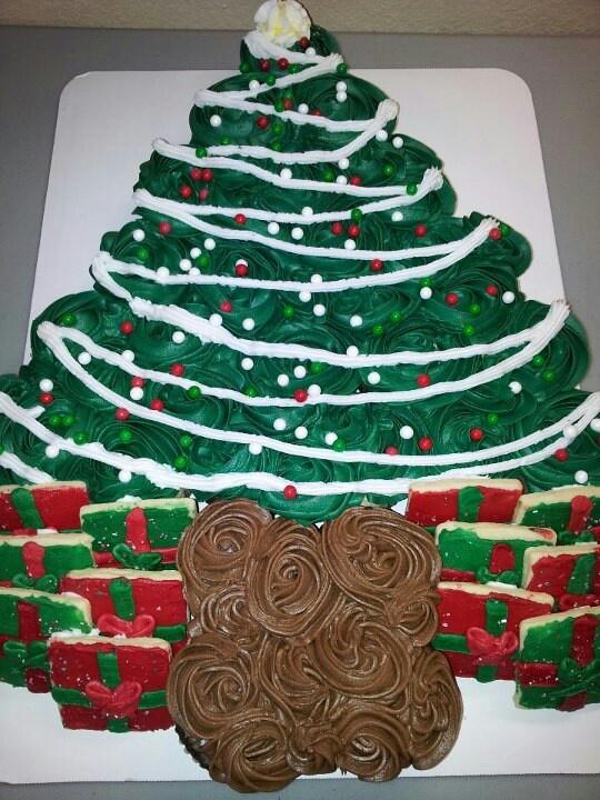 Cake Cupcake Tree Christmas Apart Pull