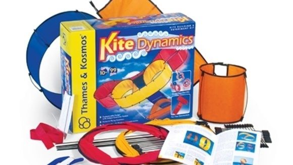 Kite dynamics: Soar to new heights with kites you design and build yourself! This amazing modular system allows you to configure kites in dozens of different ways. Learn about lift, drag, Bernoulli's principle, and the physics of flying kites.