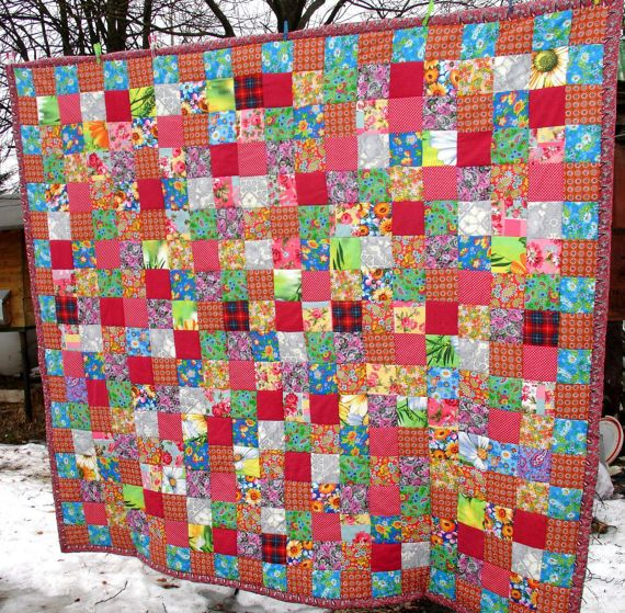 King quilt Homemade quilts King size by KingSizeQuiltsQueen on Etsy