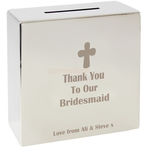 Personalised Wedding Silver Money Box  from Personalised Gifts Shop - ONLY £19.95
