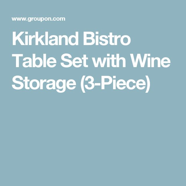 Kirkland Bistro Table Set with Wine Storage (3-Piece)