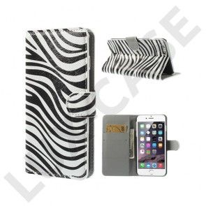 Moberg (Zebra Striper) iPhone 6 Plus Læder Flip Etui
