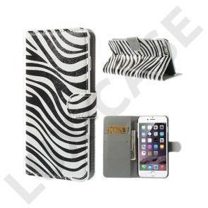 Moberg (Zebra Striper) iPhone 6 Plus Læder Flip Etui
